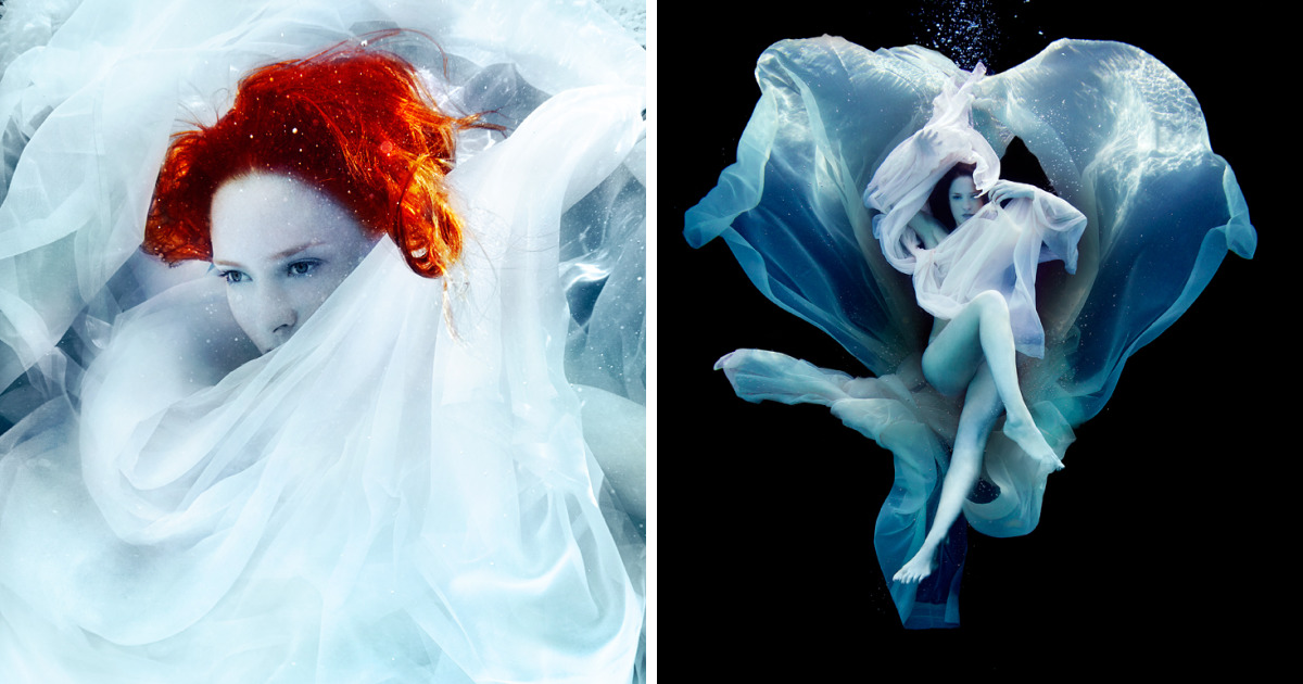 """This Photographer Creates Magic Underwater With His """"Fire In The Sky"""" Series"""