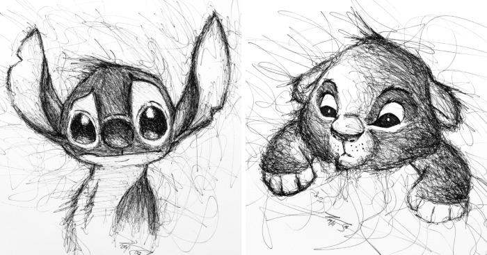 I Scribble My Favorite Cartoon Characters Bored Panda