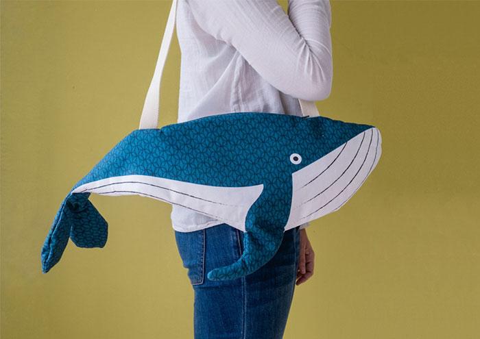 Divertidos bolsos con aspecto de fauna marina por dentro y por fuera