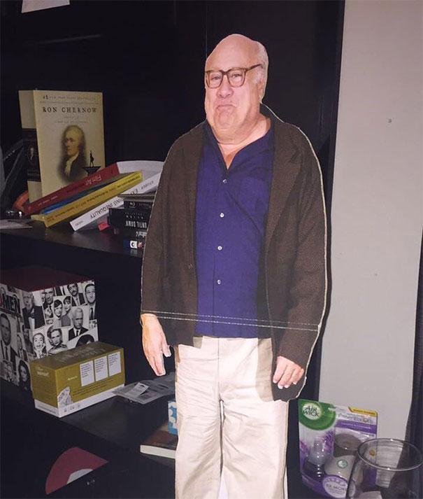 I Drunk Purchased A Danny Devito Life-Size Cutout
