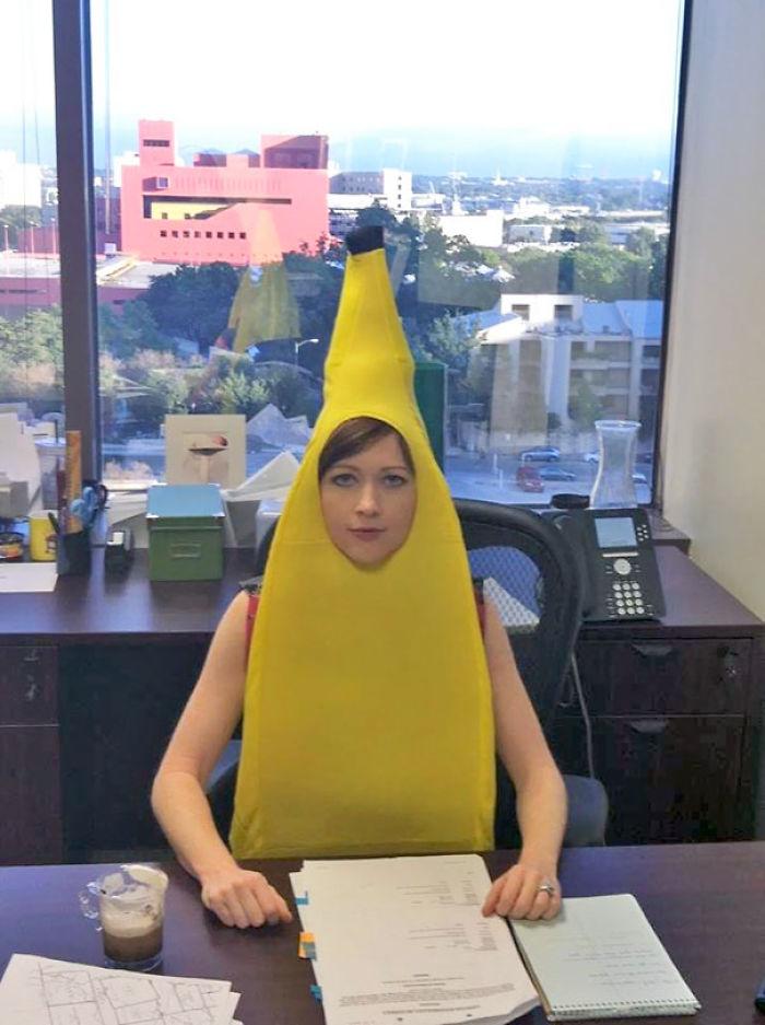Mi esposa es abogado y hoy fue a trabajar con su disfraz de Halloween