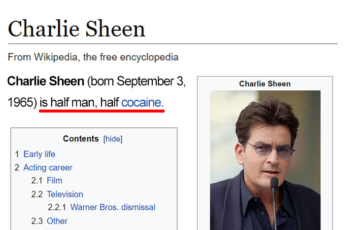 10+ Of The Funniest Wikipedia Edits By Internet Vandals