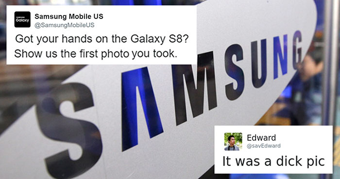 Samsung Just Destroyed A Guy's Dick Pic Joke With A Single Emoji