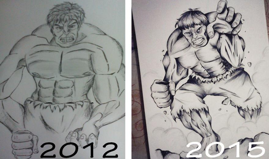 My Incredible Hulk Re-drawn :)