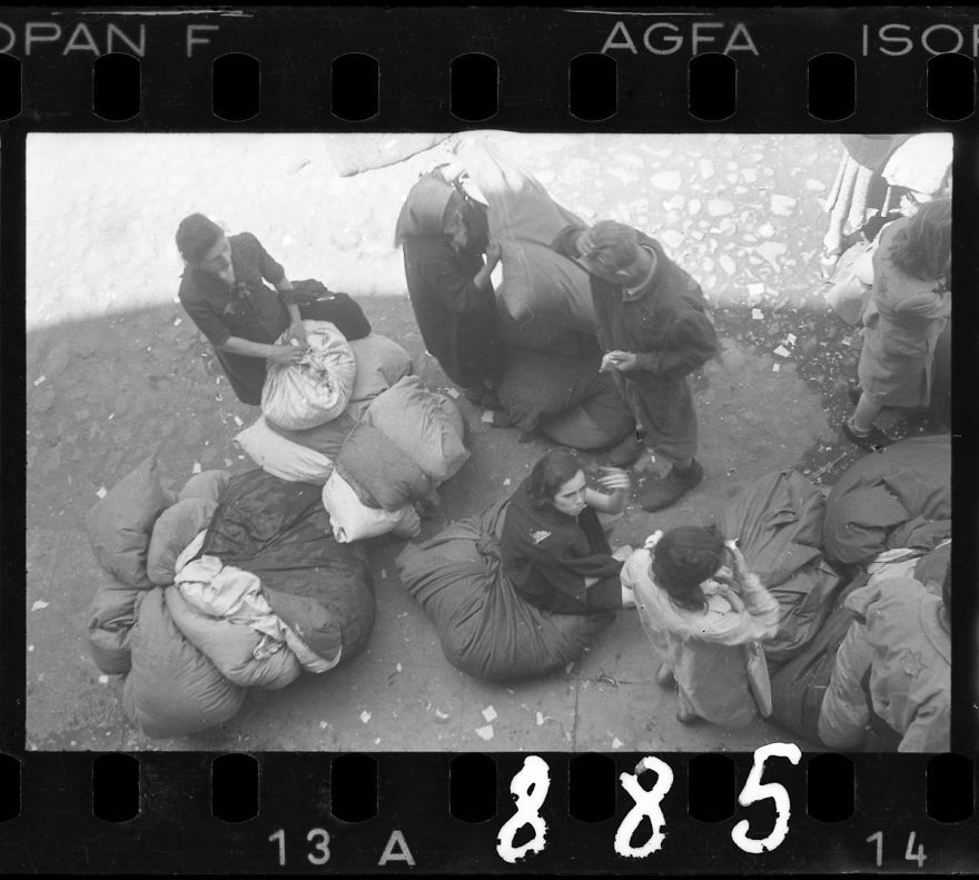 1940-1944: Residents Sorting Belongings Left Behind After Deportation