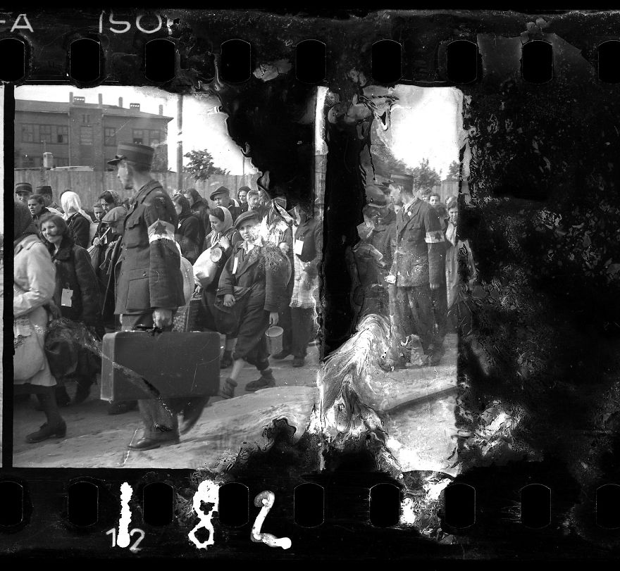 1942–1944: Lodz Ghetto Police Escorting Residents For Deportation