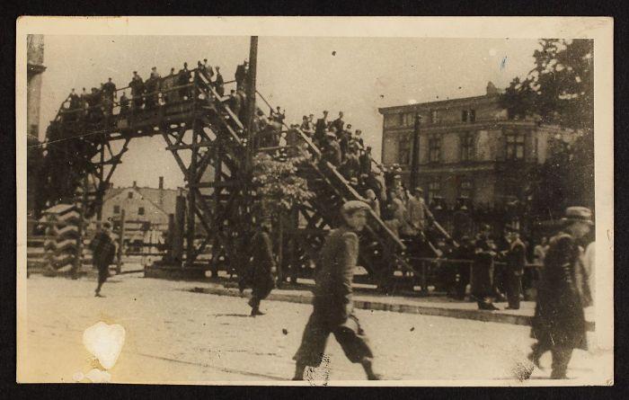 1940-1944: A Boy Walking In Front Of The Bridge Crossing Zigerska (The