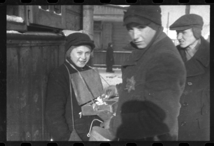 1940-1944: Youth Selling Goods On The Street