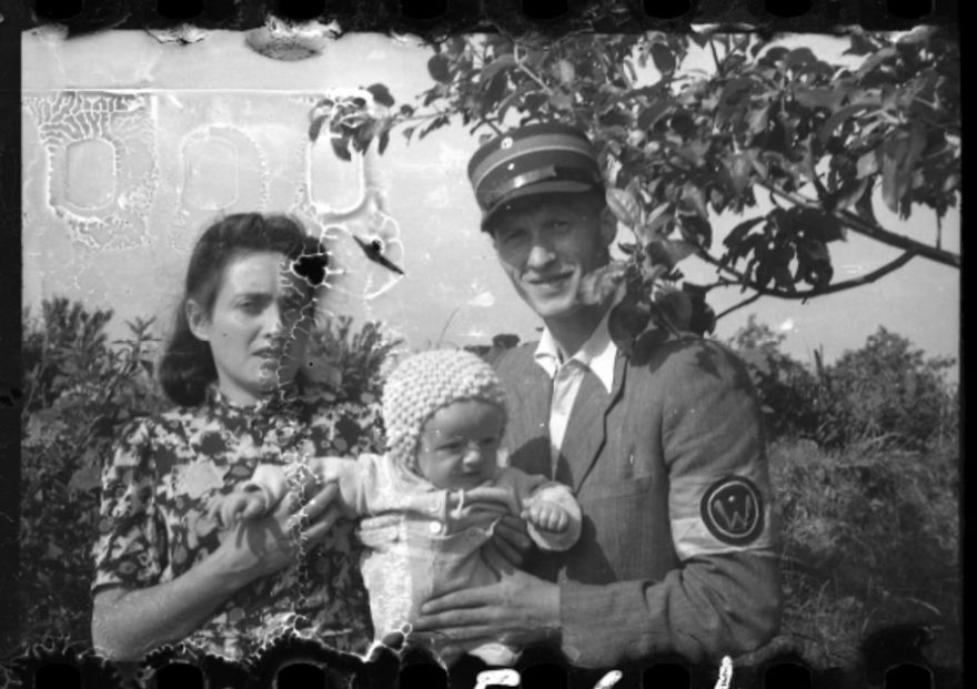 1940-1944: A Jewish Policeman With His Wife And Child In Marysin