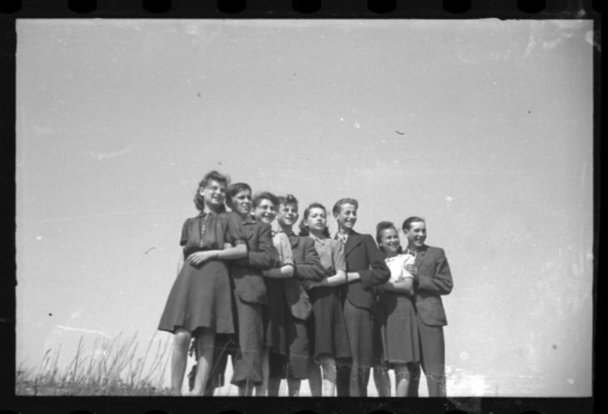 1940-1944: A Group Of Young Residents Standing In A Line