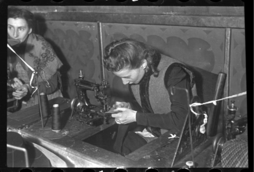 "1940-1944: A Woman Sewing In A Workshop (""Ressort"") In The Ghetto"