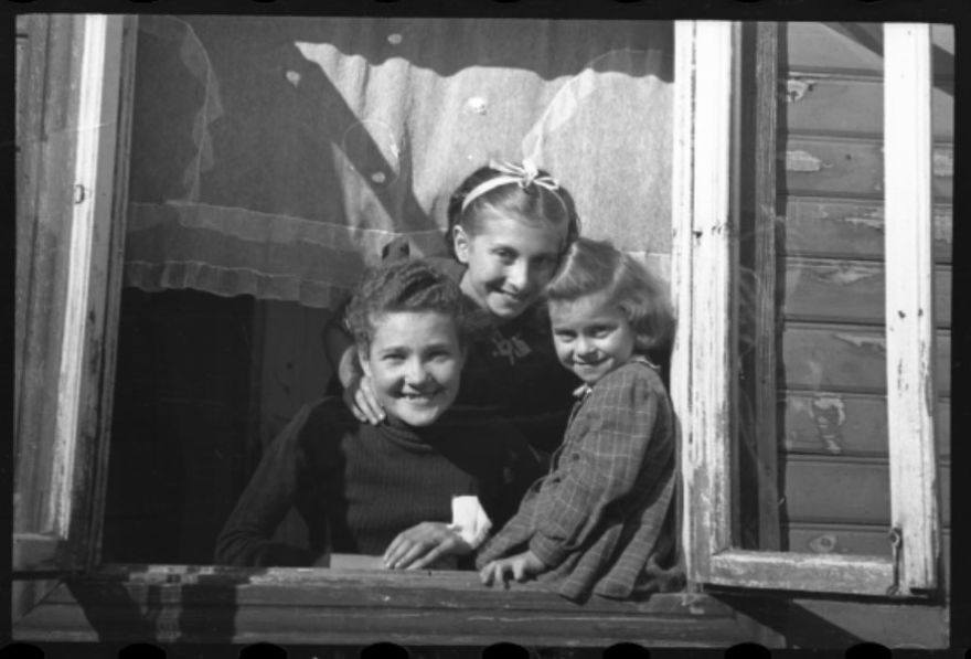 1940-1944: Children Looking Out The Window