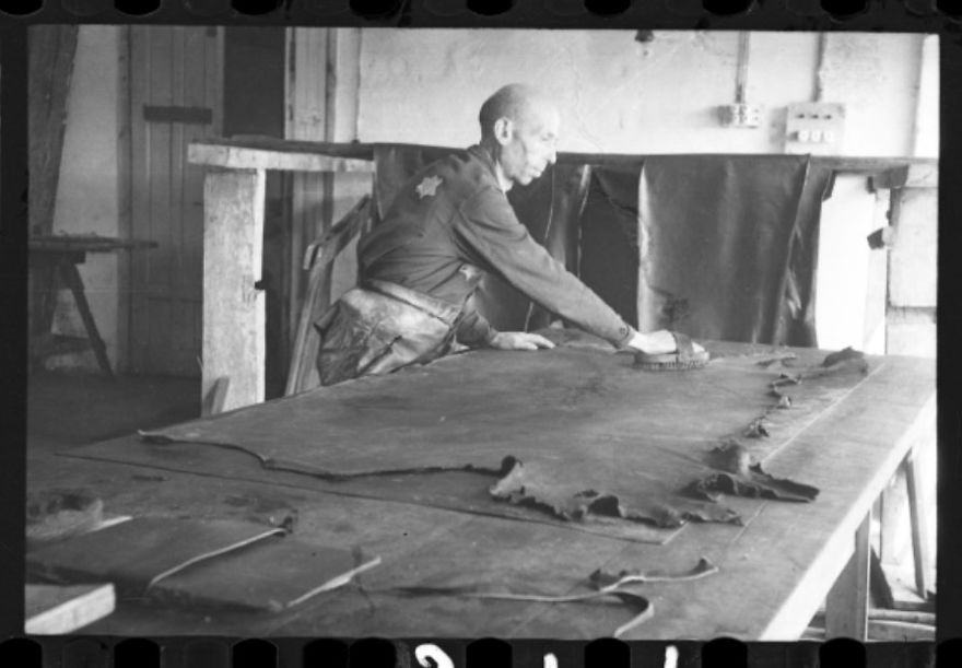 1940-1944: Man Brushing Hide In The Leather Factory