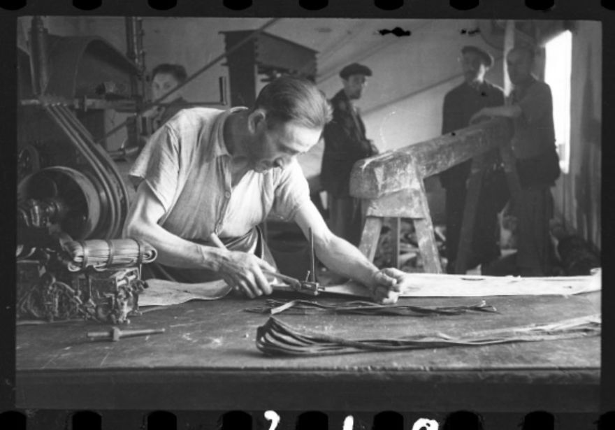 "1940-1944: Man Working In A Workshop (""Ressort"") In The Ghetto"