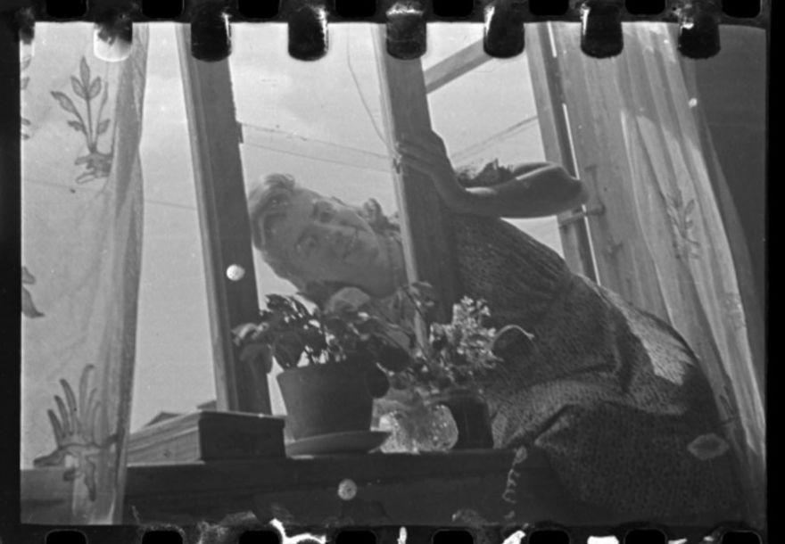 1940-1944: Portrait Of Stefania Schoenberg Posing In The Window