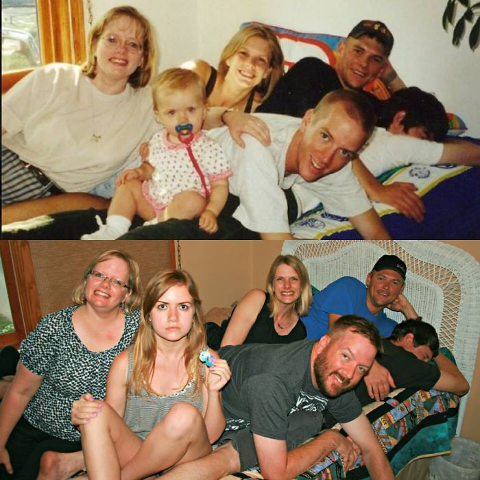 My 2 Sisters, My Niece, 2 Cousins And Myself, 17 Years Apart.