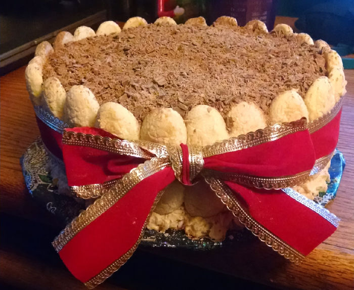 Christmas/birthday Tiramisu Cake I Made For My Bestie