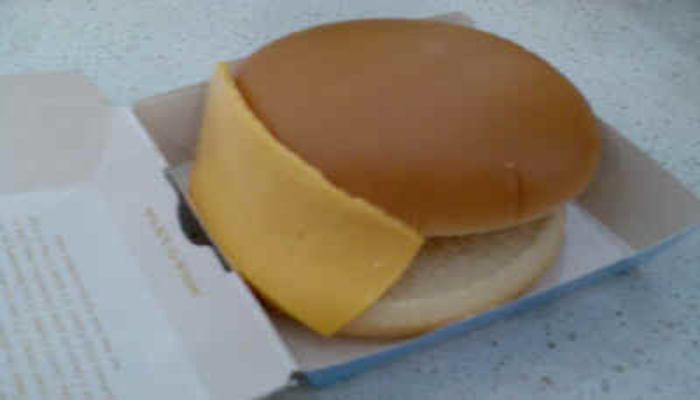 Orderd A Cheese Burger With Some Extra Cheese