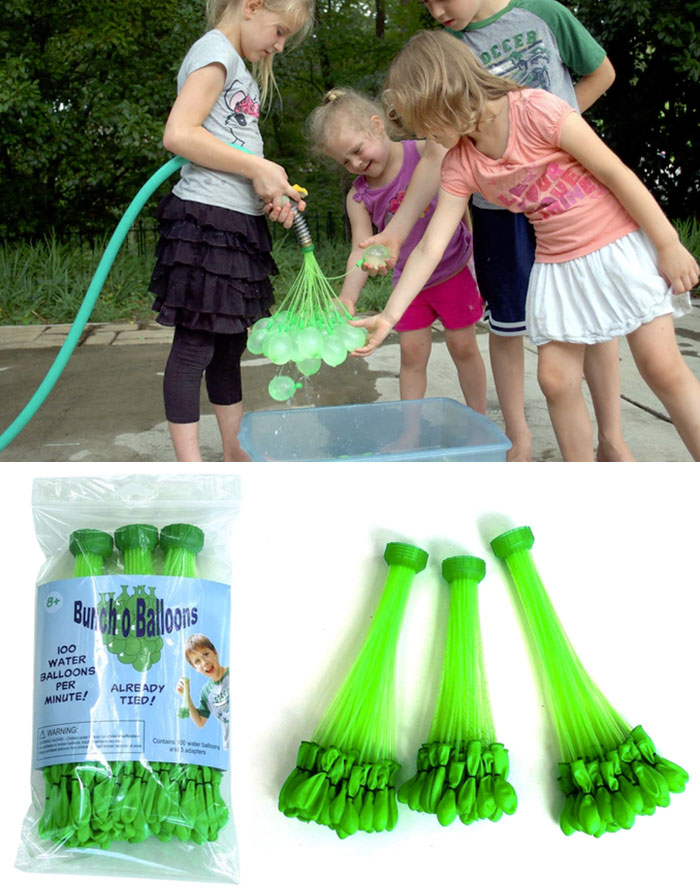 100 Water Balloons In Less Than 1 Minute Set
