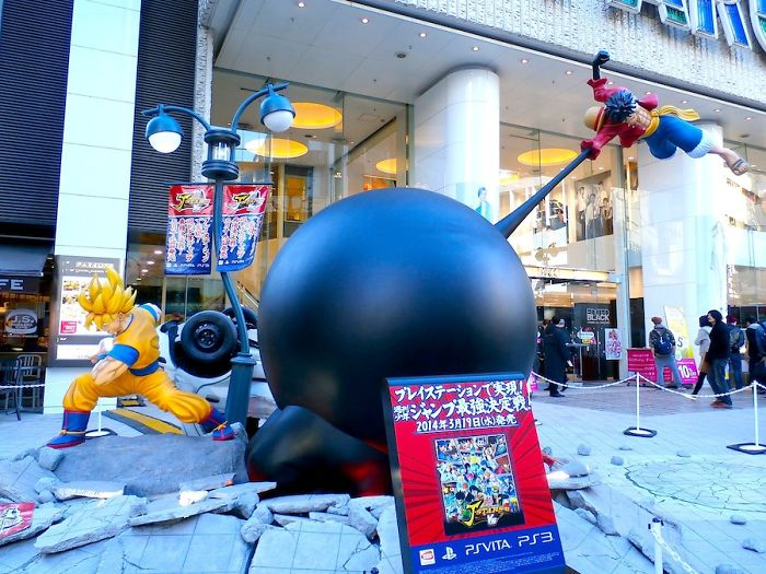 Goku Vs Luffy – Life-Size Anime Statues In Tokyo