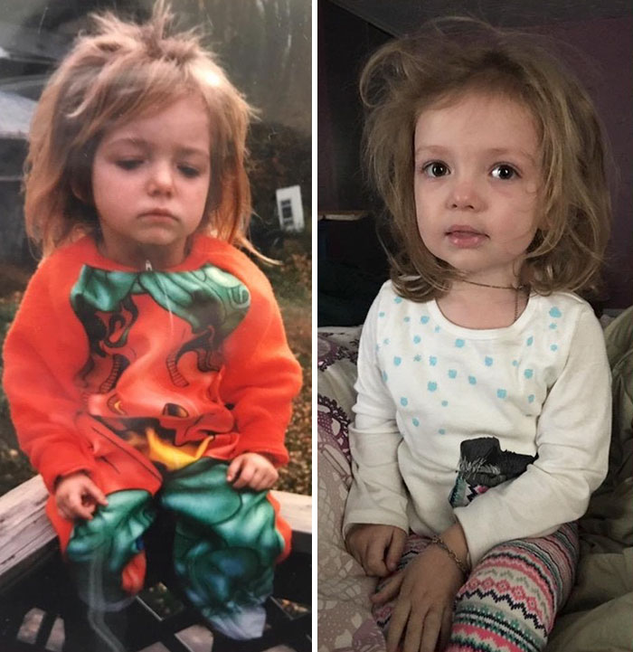 Me At 3 Vs. My Daughter At 3