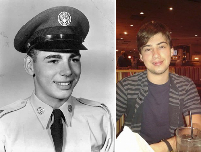 My Dad At Around 18 And My Son At The Same Age.