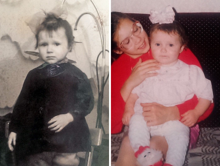 Mother And Daughter. When I Found This Old Picture Of My Mom I Thought That Was Me!