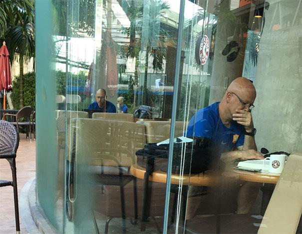 Glitch In Matrix At My Local Coffee Shop