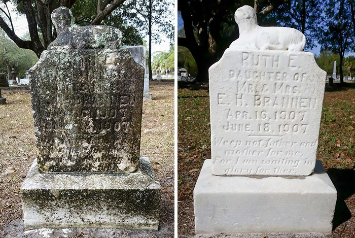 Man Spends His One Day Off Cleaning Forgotten Veterans' Tombstones, And Here Are The Results