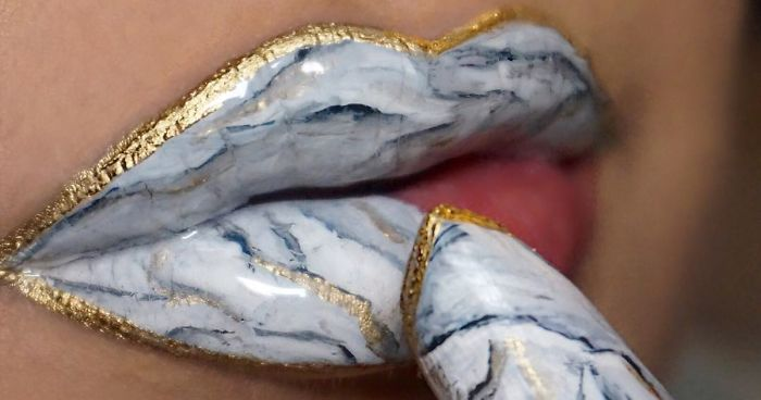 Marble Lips Are The Newest Makeup Trend Going Viral On