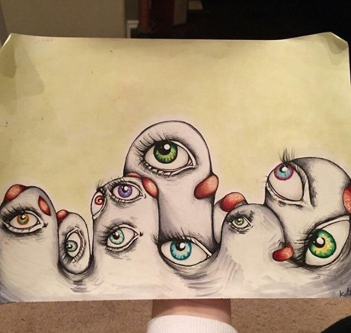 Me diagnosticaron esquizofrenia a los 17 años, así que empecé a dibujar mis alucinaciones para superarlo