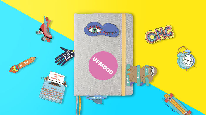 Upmood-Notebook With Emotions On Every Page