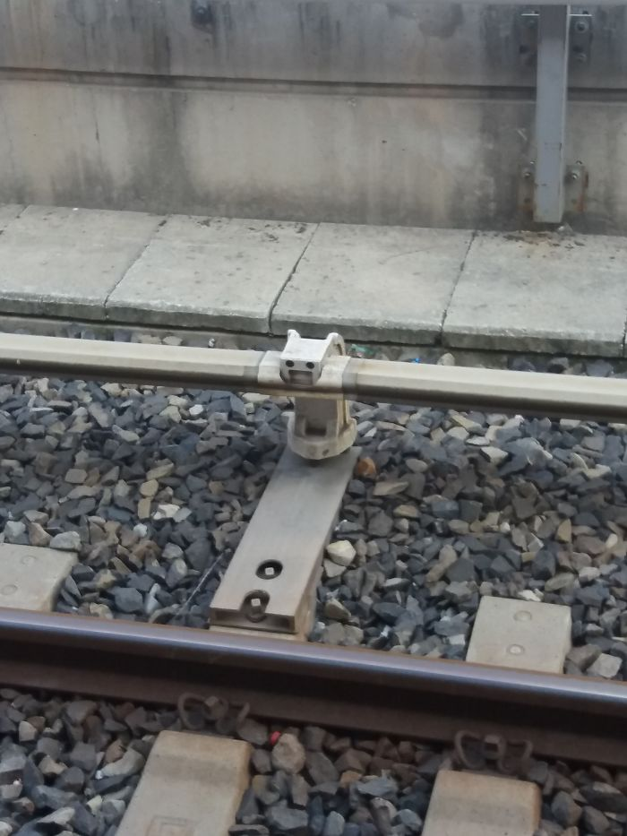 This Part Of Rail Seems Happy About Being There