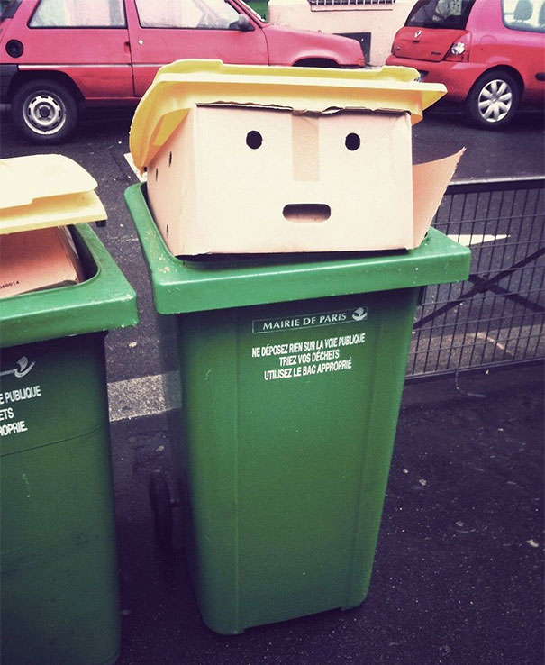 Here's A Bin That Looks Like The Donald