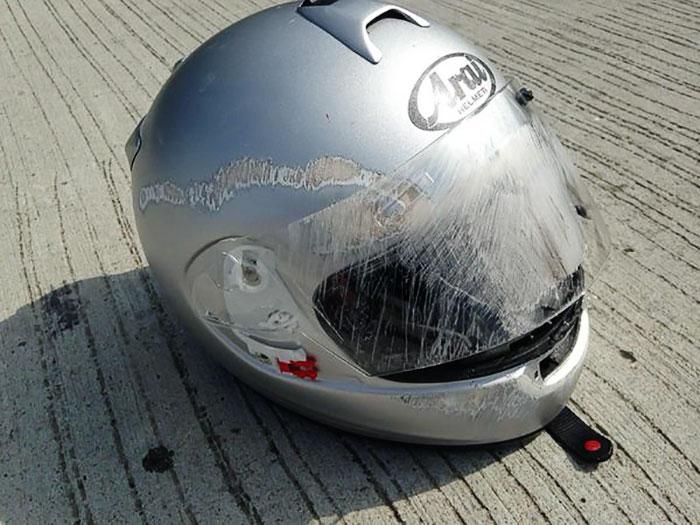 El casco te salva la vida