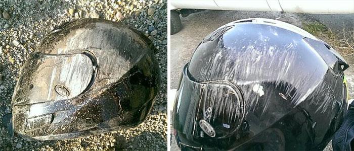 Lo miro y sé cuantas veces me ha salvado mi casco