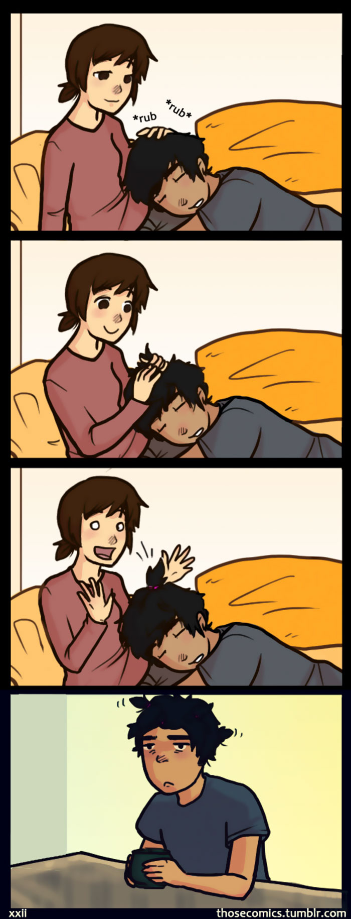 Comics about little things that bring happiness for couples