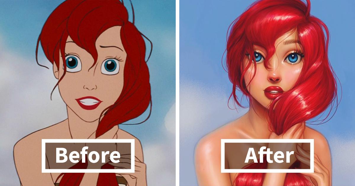 llustrator Repaints Disney Princesses In Her Unique Style