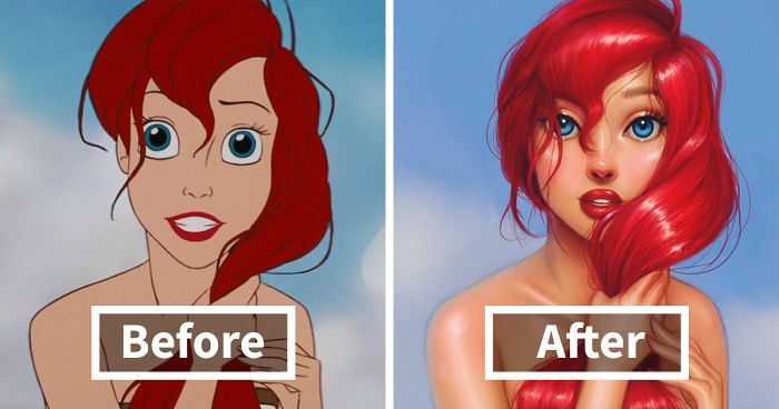 Llustrator Repaints Disney Princesses In Her Unique Style Bored Panda