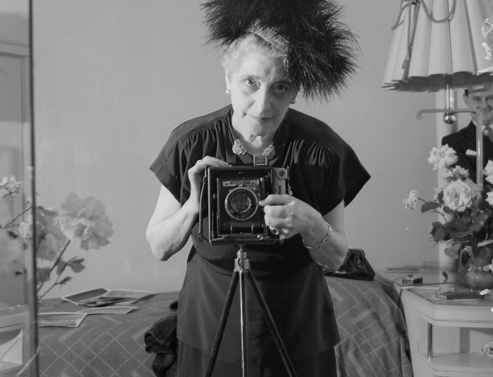Photographer Florence Vandamm, 1947