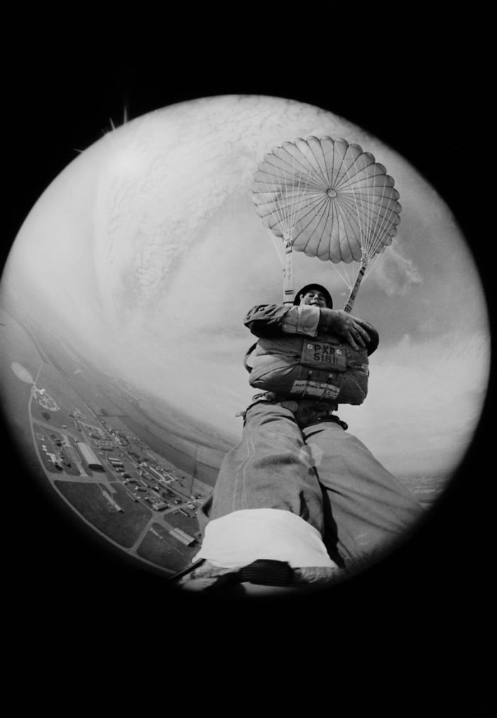 Photojournalist Terry Fincher With A Fish-Eye Lens Strapped To His Foot, 1966