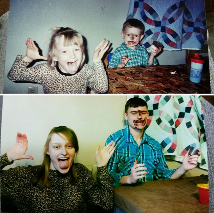 We Did Photo Recreations For My Mom
