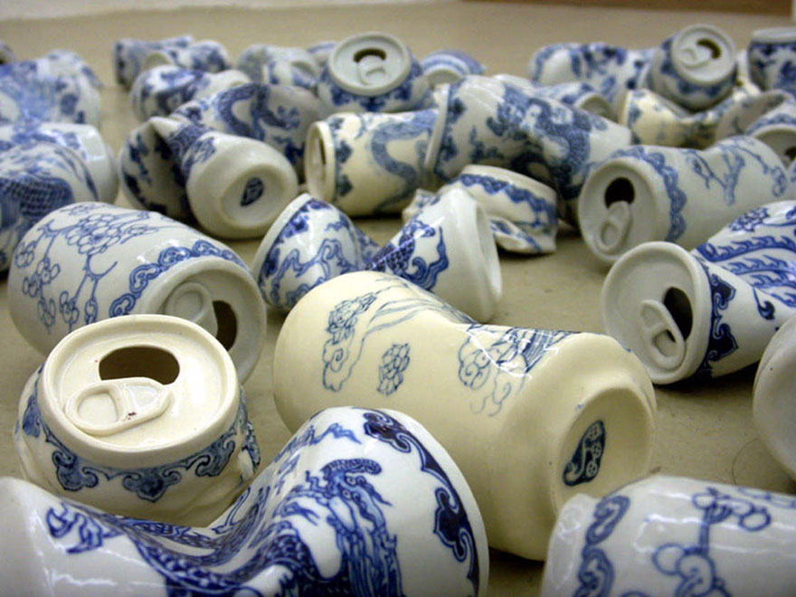 smashed-cans-sculptures-drinking-tea-lei-xue-4