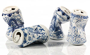 Smashed Can Sculptures Made In The Ancient Style Of Ming Dynasty Porcelain