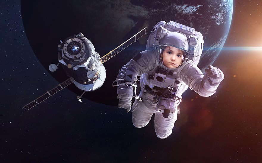 She Floats In Space