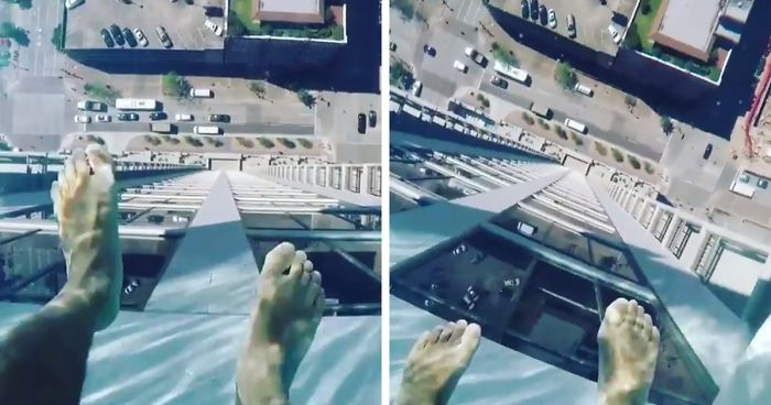 Is This The Scariest Swimming Pool Ever? See What It's Like To Swim 500ft Above A Busy Road