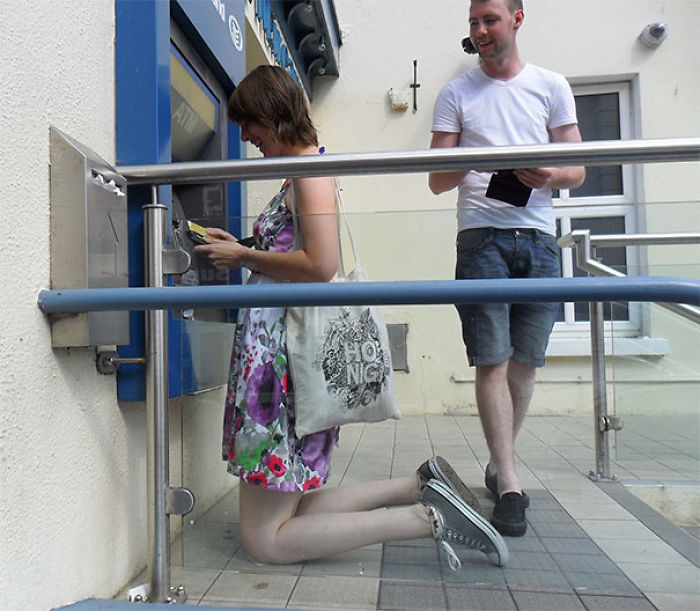 My Almost 2 Meters Tall Friend Is Having Some Trouble At The ATM