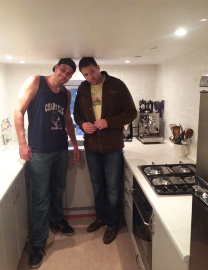 Since Everyone Thinks They Are So Tall. Here Is My Friend And I In A Kitchen In Copenhagen