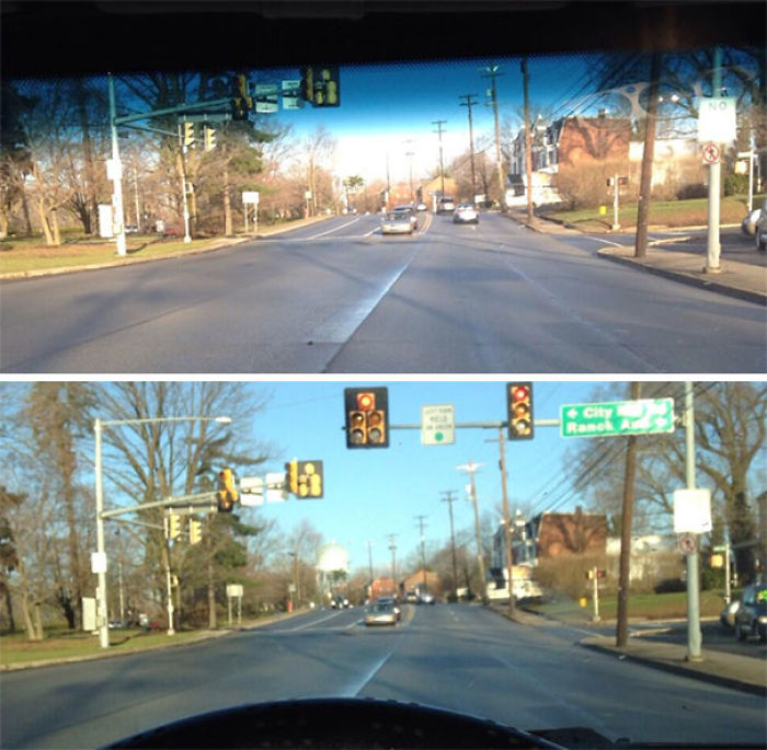 How Tall People (Don't) See Stoplights Vs. How Normal People See Them