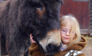 Completely Mute Girl Surprises Everyone When She Tells Her Therapy Donkey These Magical Words